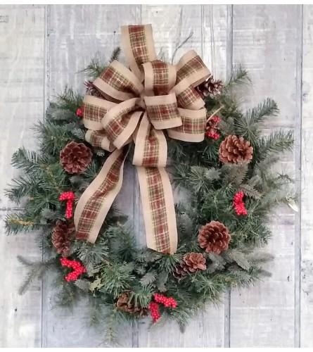 Country Christmas silk wreath