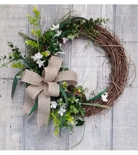 Spring time in the fields silk wreath