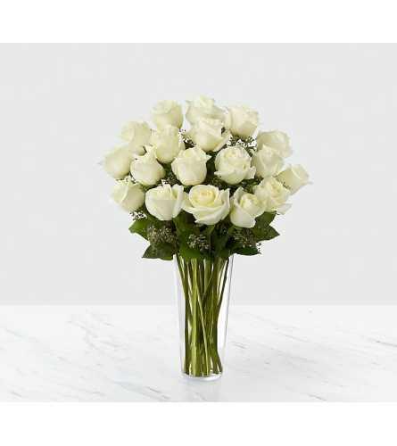 Dozen White Glamour Roses