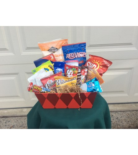 Movie Night Snack Basket