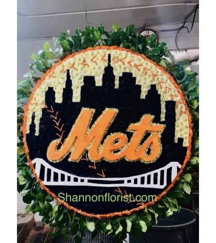 Let's Go Mets City Skyline