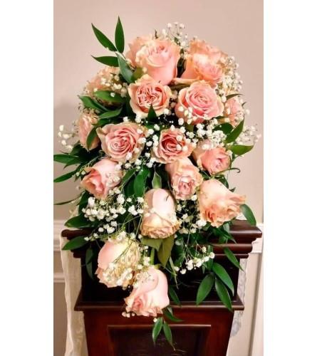 Blushing Bride Cascade Bouquet