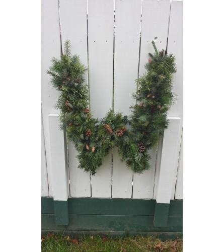 Monogram Fresh Door Wreath
