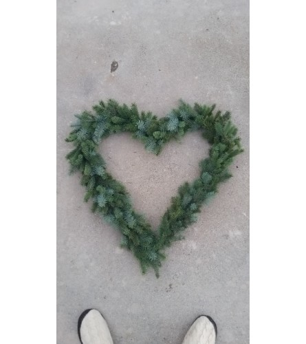 Heart Shaped Fresh Door Wreath