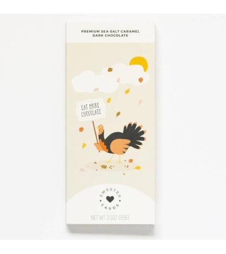 Thanksgiving Card Chocolate Bar