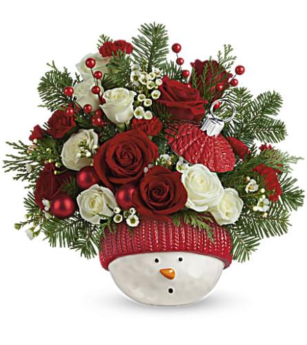 New Teleflora Snowman Ornament Bouquet