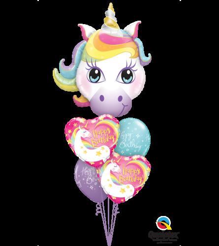 Sparkling Stars & Unicorns Cheerful Balloon Bouquet