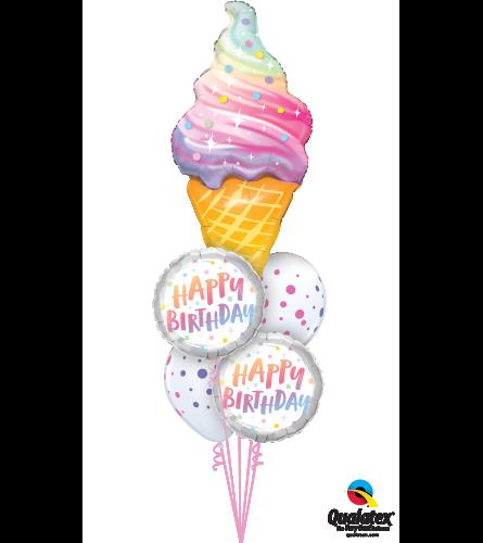 Delicious Giant Birthday Treat Cheerful Balloon Bouquet