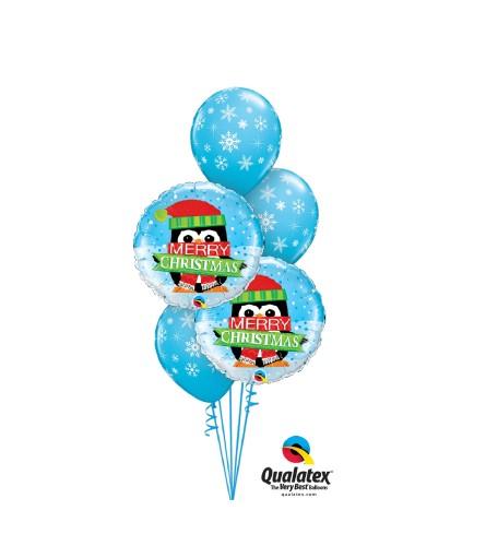 Penguin Merry Christmas Classic Balloon Bouquet