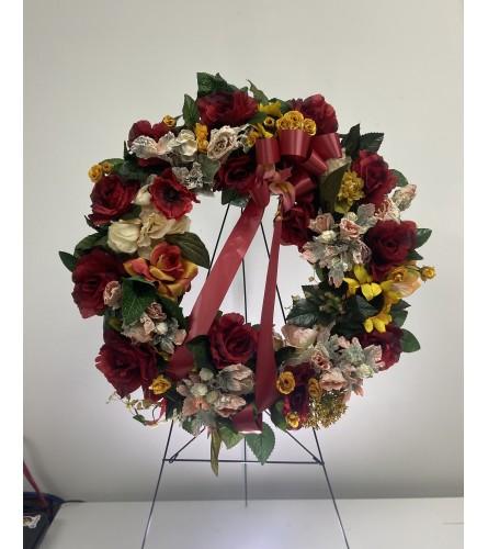 Silk Memorial Wreath