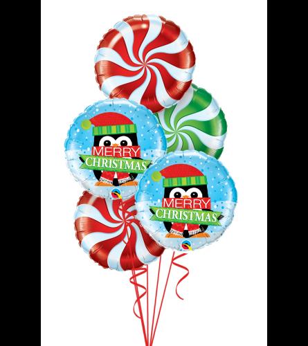 Sweet Christmas Fun Foil Balloon Bouquet