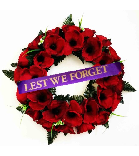 Poppy Wreath Lest We Forget