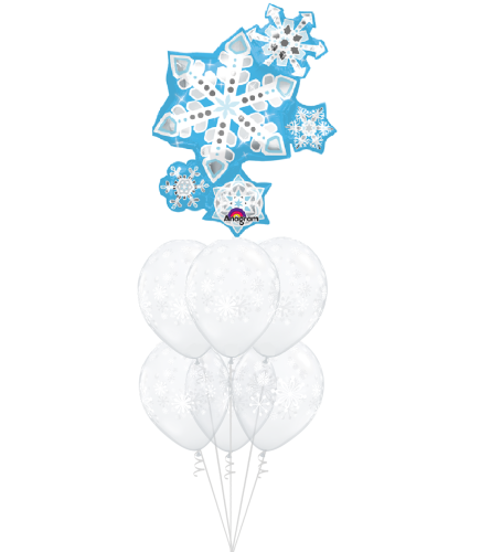 Snowflakes Galore Awesome Balloon Bouquet