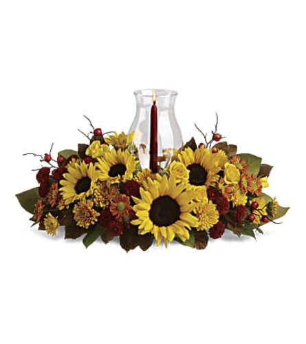 Autumn Sunflower Centerpiece