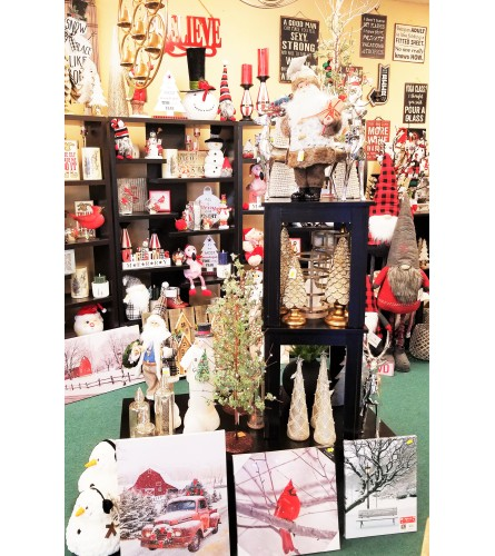 Christmas in the Gift Shop!  Christmas products available!