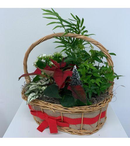 Jute Holiday Garden Basket