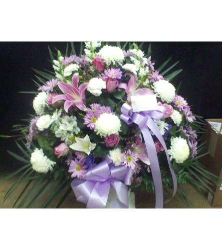 floor basket /lavender,pink,white