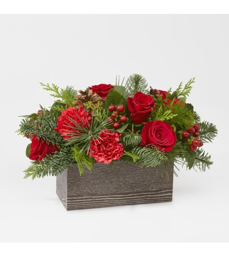 Christmas Cabin Bouquet FTD