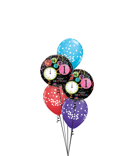 Colourful New Year Classic Balloon Bouquet