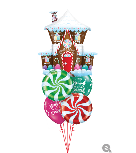 Fun and Festive Holiday Cheerful Balloon Bouquet