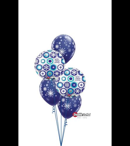 Warm Winter Wishes Classic Confetti Balloon Bouquet