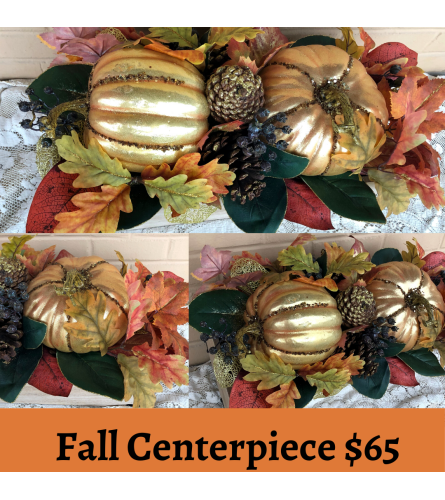 Fall Silks Sale Centerpiece