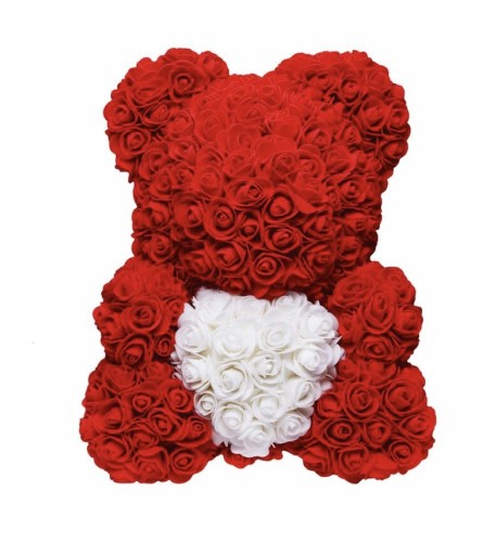 LOVE HEART ROSE BEAR