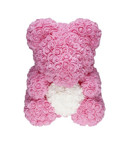 PINK LOVE HEART ROSE BEAR