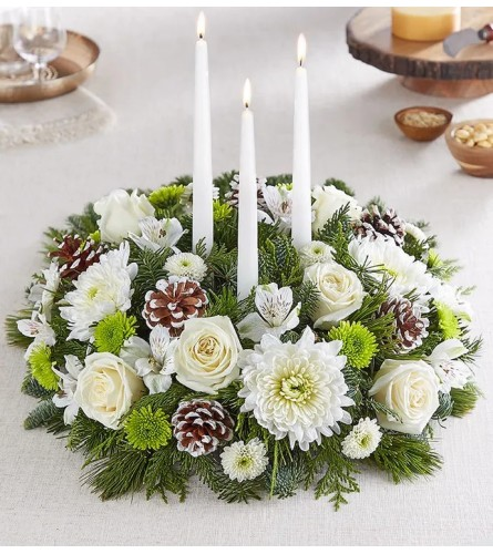 Serene Holiday Centerpiece