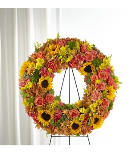 Autumnal Memories Wreath FTD
