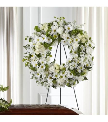 The Faithful Wishes Wreath FTD