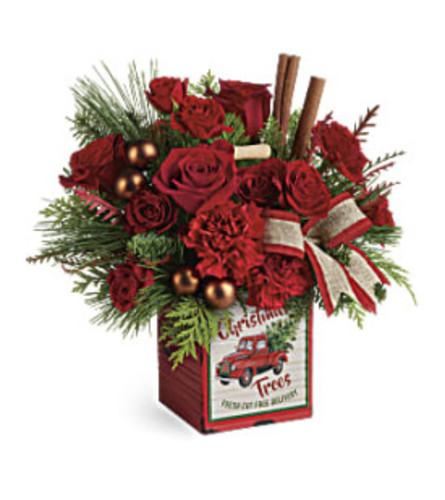 Teleflora's Merry Vintage Christmas (red)