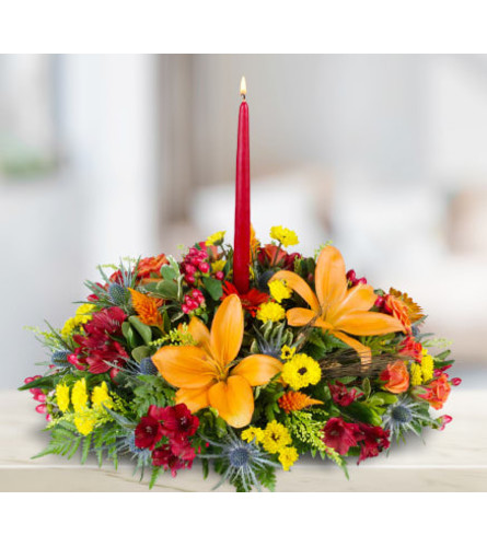 Rothe's Thanksgiving 1-candle Centerpiece