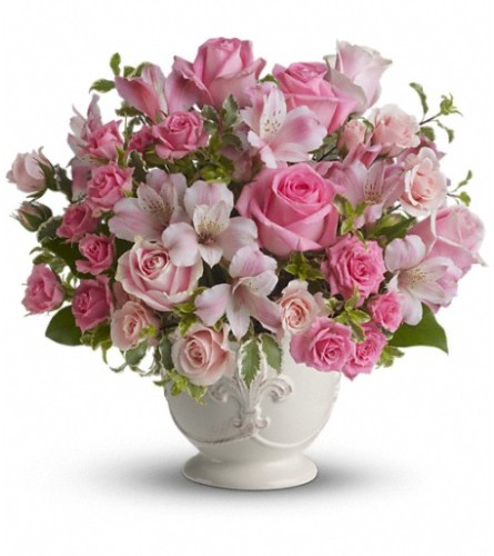 Teleflora Pink Potpourri Bouquet with Roses