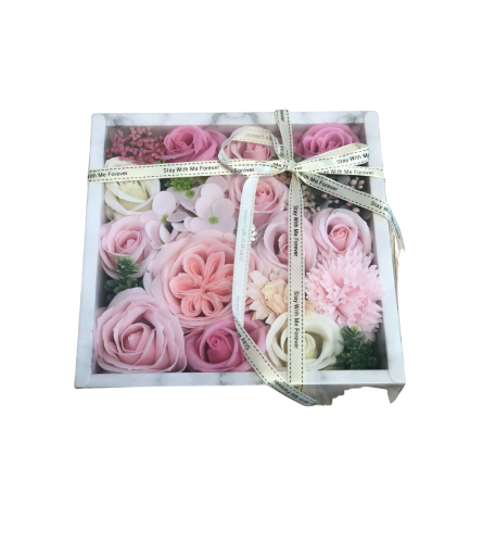 Square Marble Flower Box