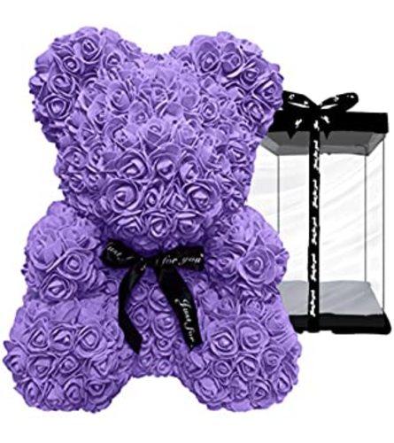 Purple foam Bear Gift Boxed
