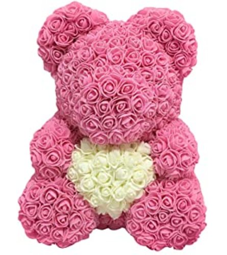 Pink Foam Bear With Heart