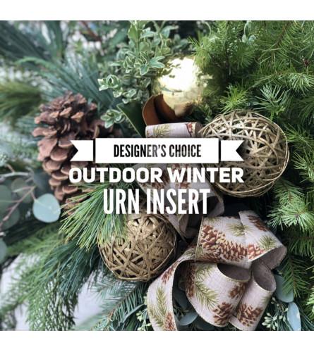 Outdoor Winter Urn Insert