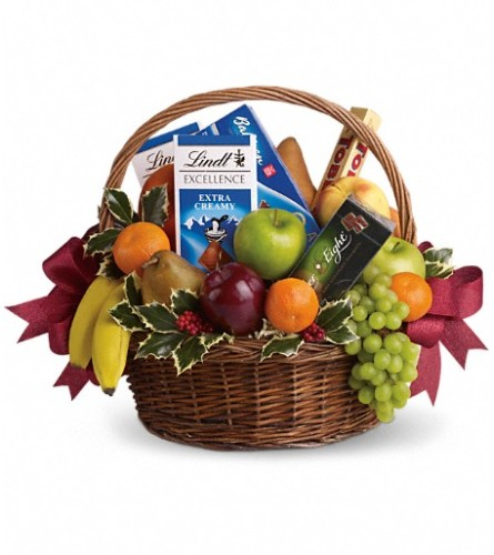 Fruits and Sweets Christmas Basket Teleflora