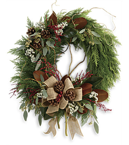 Rustic Holiday Wreath Teleflora
