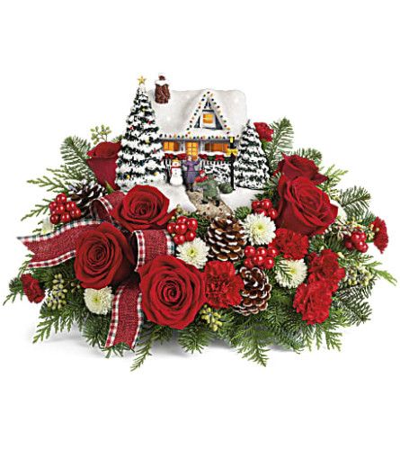 2020 Thomas Kinkade's Homecoming Hero Bouquet Teleflora