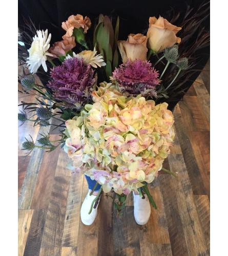 Wrapped Bouquet Soft Neutrals