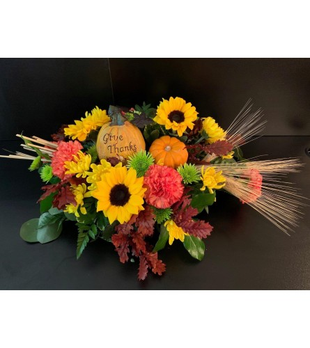 Give thanks fall centerpiece