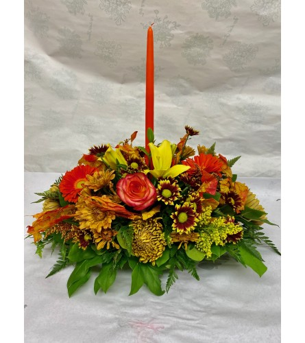 Traditional Thanksgiving Oblong Centerpiece