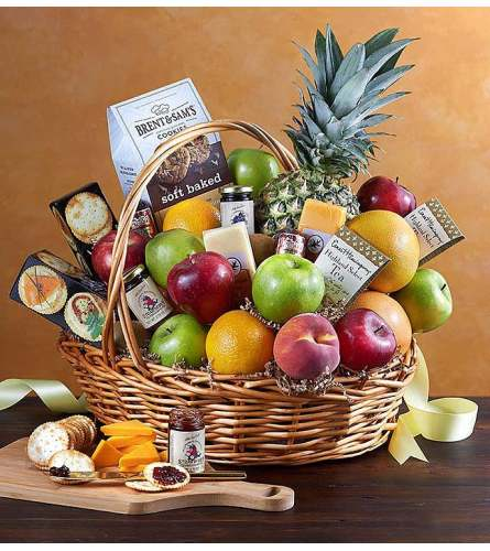 Florist Choice Deluxe Fruit and Gourmet Basket