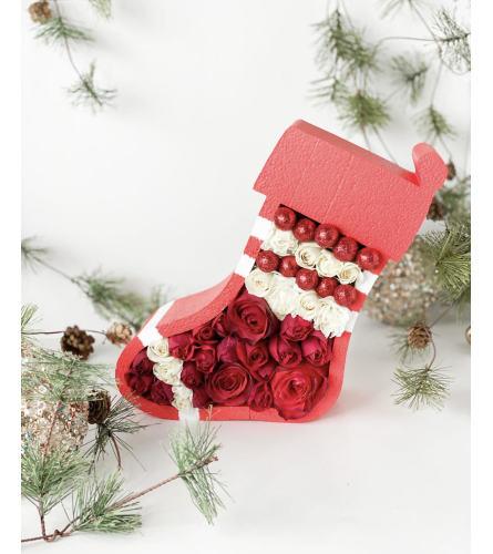 Holiday Flower Sock