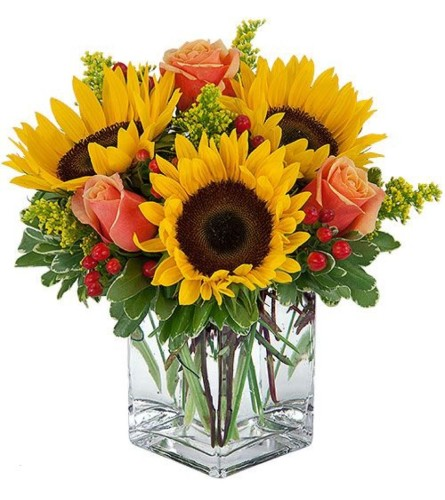 Fall Sunflowers & Roses