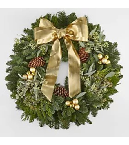 Gold Glamour Christmas Wreath