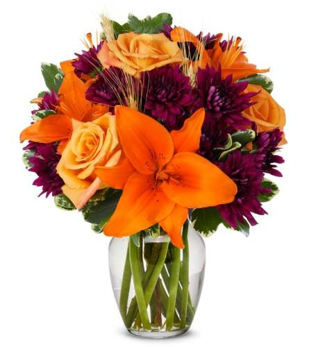 Teleflora's Autumn Harvest Blooms Bouquet