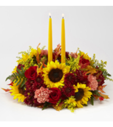 The FTD Giving Thanks Candle Centerpiece